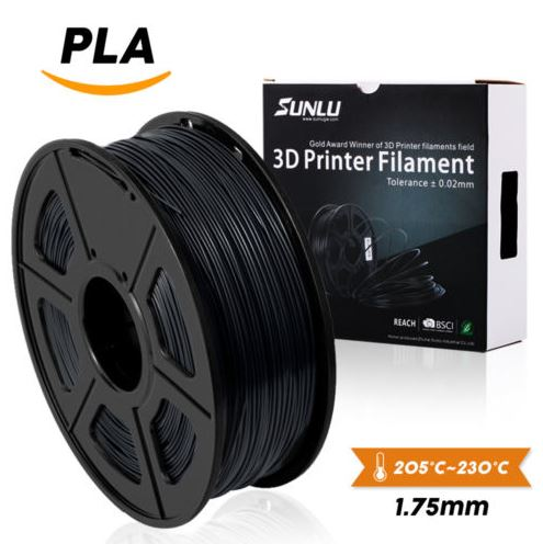 PLA 3D Printer Filament 1.75mm 1KG 2.2LB Spool White PLA Printer Filament SUNLU